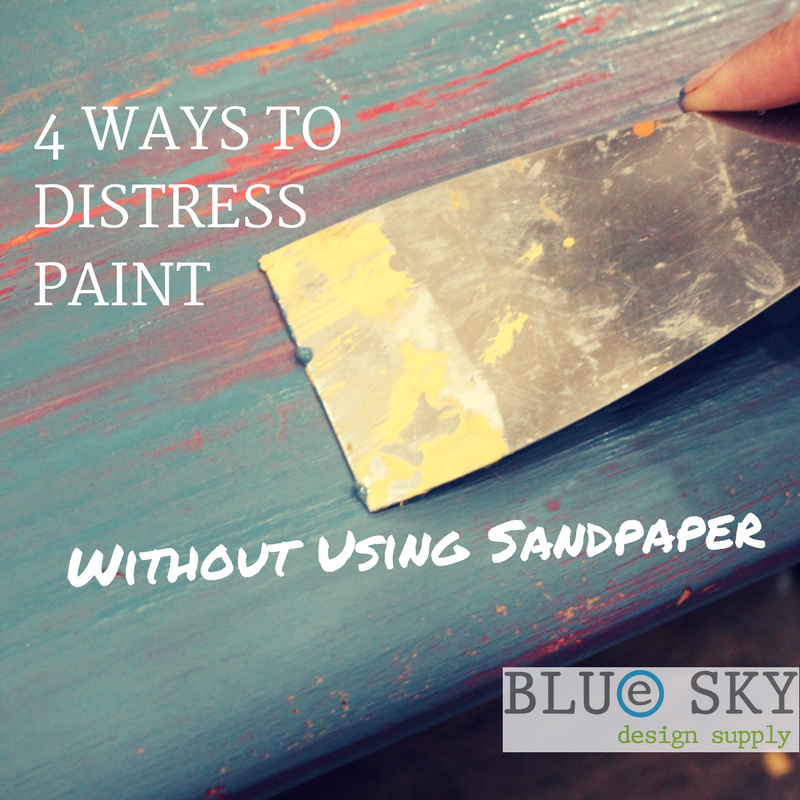 How to Distress Paint Without Sandpaper